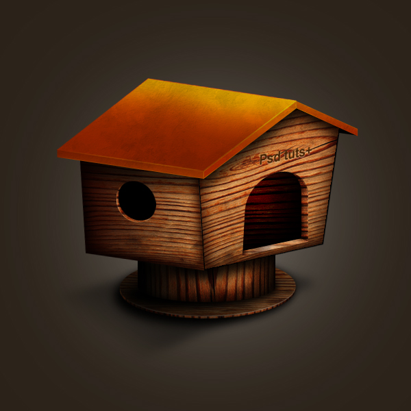 Create A Wooden House Icon in Photoshop 21 Fresh and Excellent  Photoshop Tutorials from May 2010