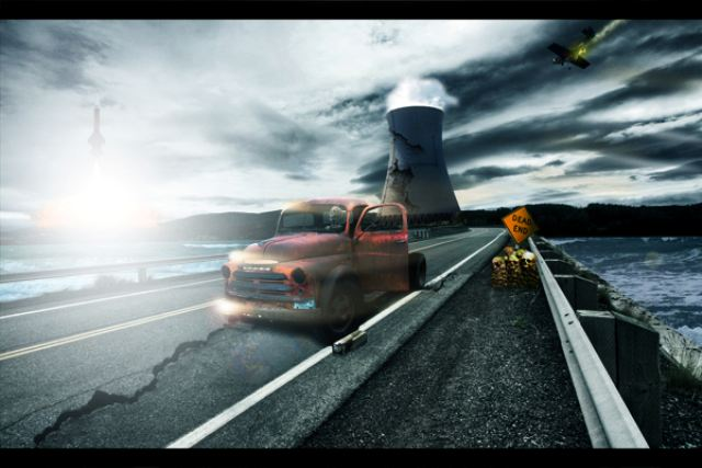 Create a Nuclear Disaster Landscape 21 Fresh and Excellent  Photoshop Tutorials from May 2010